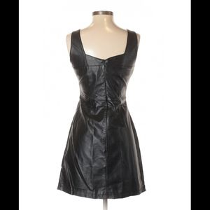 Charlotte Russe Dresses - Charlotte Russe Faux Leather Dress